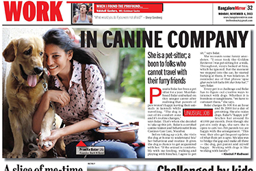 Bark N Bond Featured in Bangalore Mirror